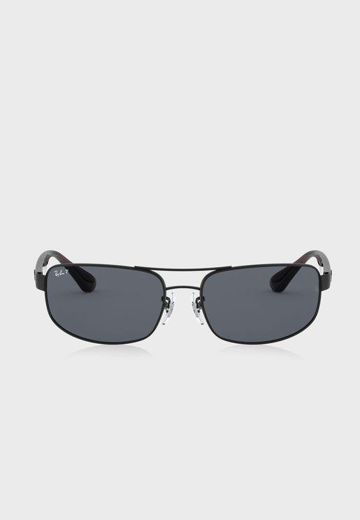 0RB3445 Rectangle Sunglasses