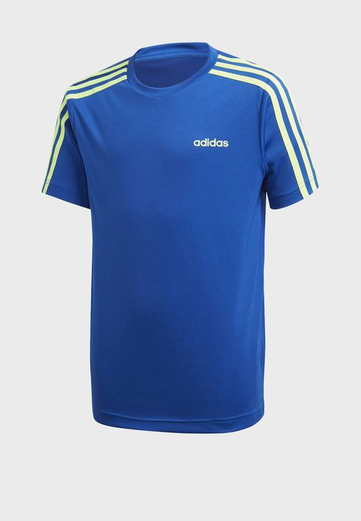 Youth Aero Ready 3 Stripe T-Shirt