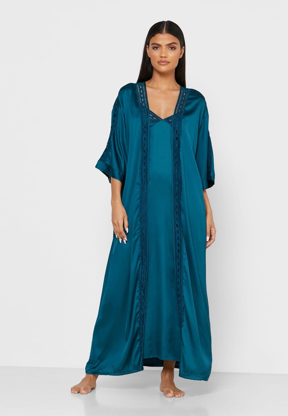 2 In 1 Nightdress Robe