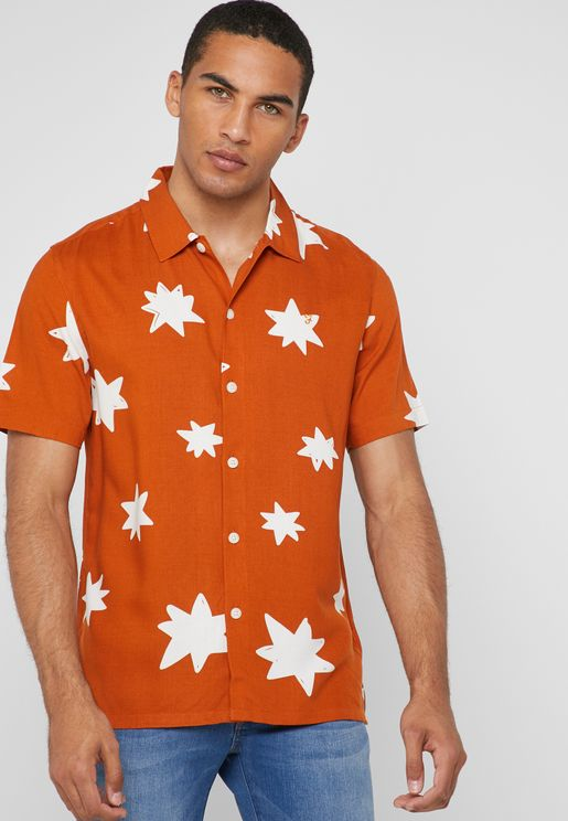 Star Print Regular Fit Shirt