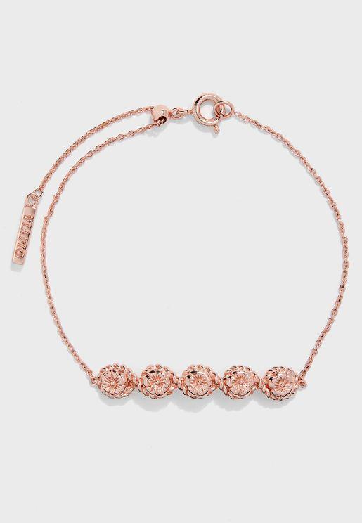 Flower Show Rope Chain Bracelet