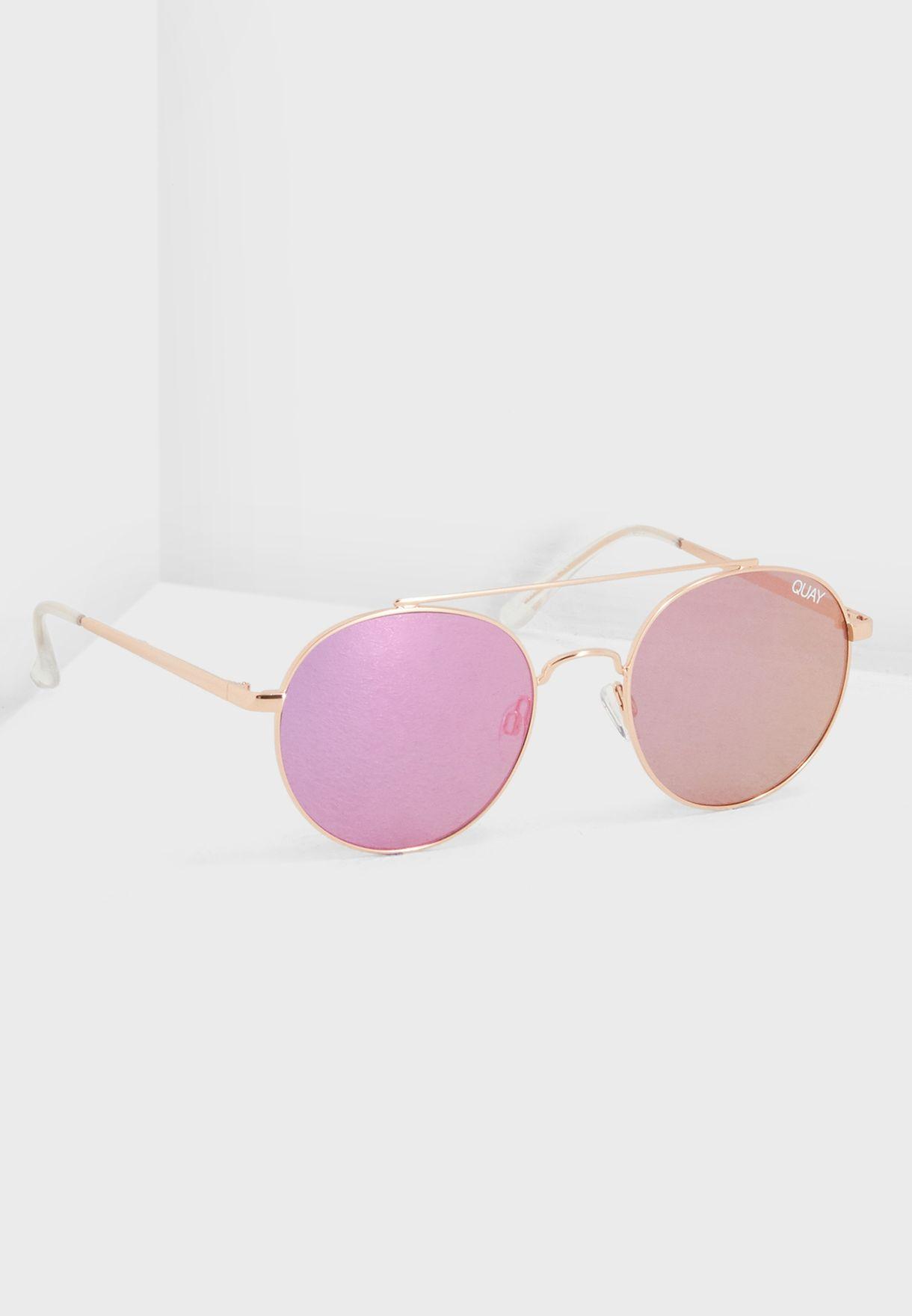 db36eb99662 Shop Quay Australia rosegold Outshine Sunglasses QW-000439-ROSE PNK ...