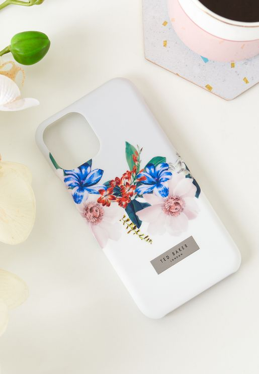غطاء ايفون 11 بطباعة زهور