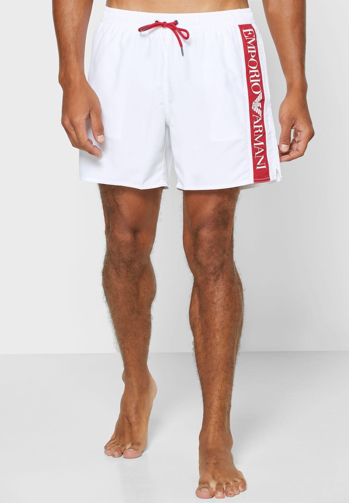 Side Tape Logo Swim Shorts