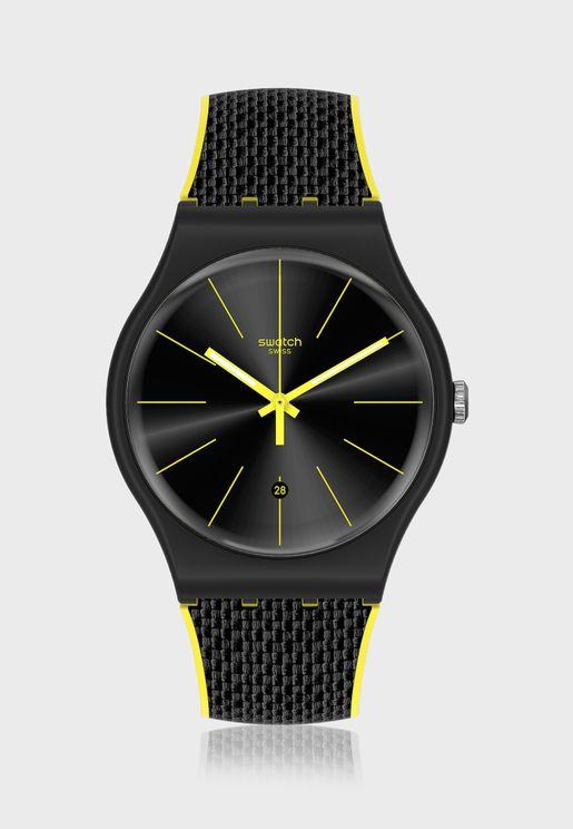 Black Cord Analog Watch