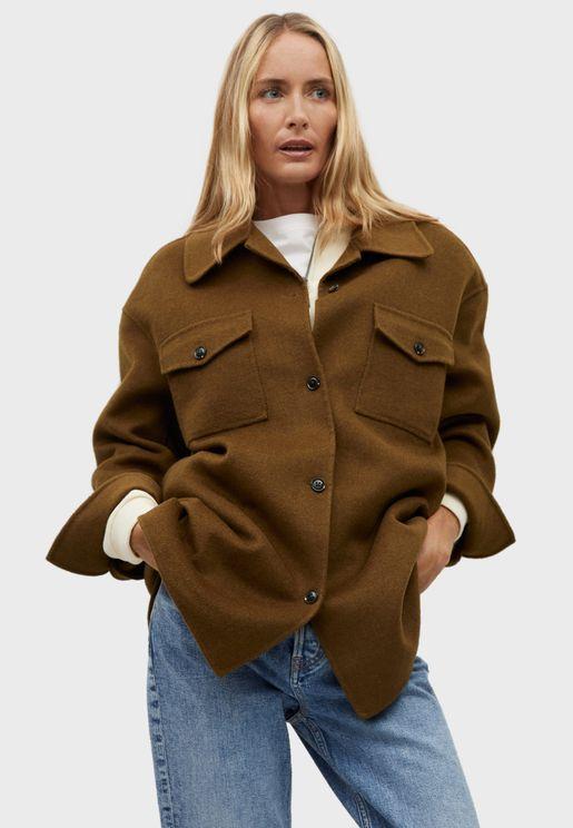 Pocket Detail Oversized Jacket