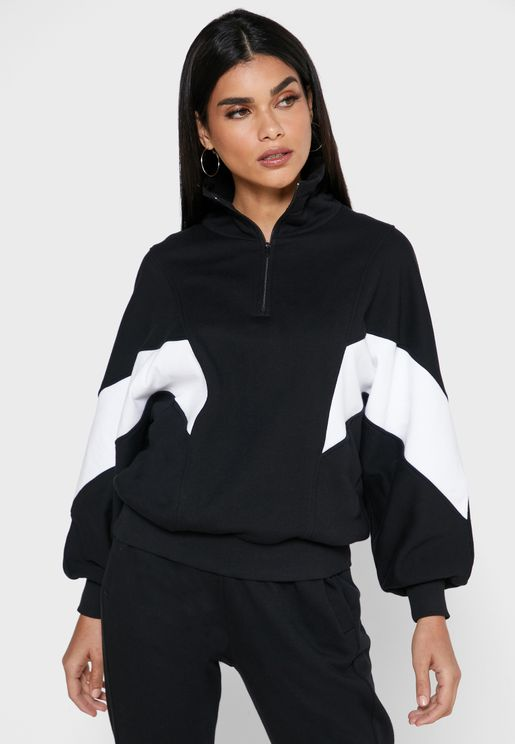 Animation Zip Detail Sweatshirt
