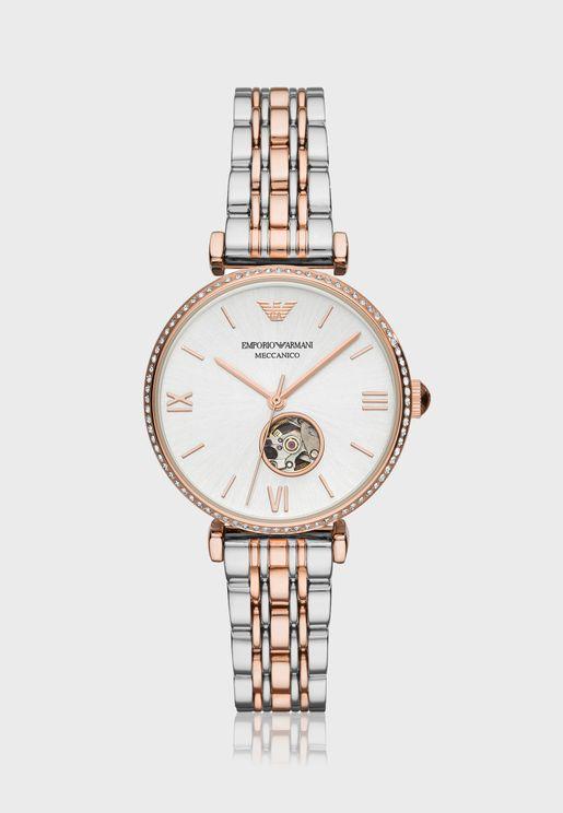 AR60019  Gianni T-Bar 2-Tone Watch