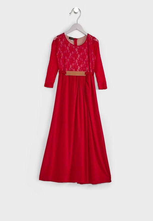 فستان طويل للاطفال