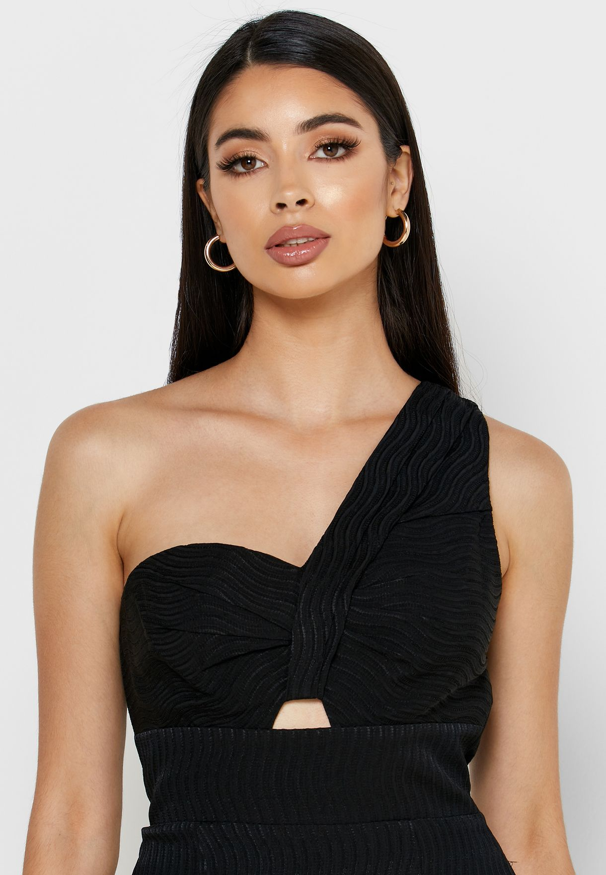 Kennedy Cut Out Detail One Shoulder Dress