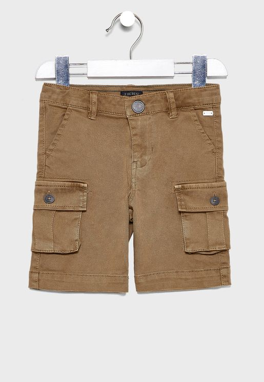 Kids Folded Hem Cargo Shorts