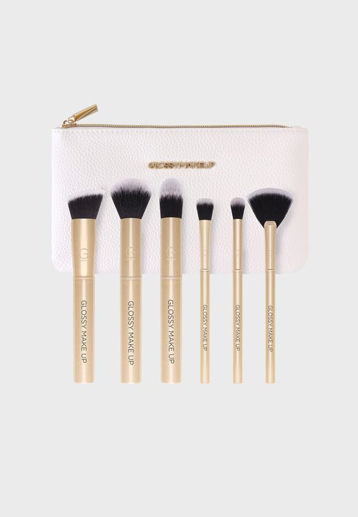 Gold Brush Set 6 Piece