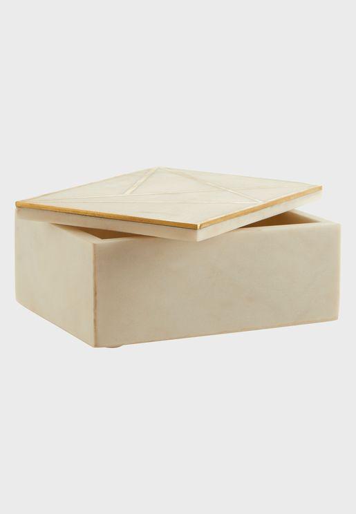 صندوق حلي فاخر بنمط رخامي