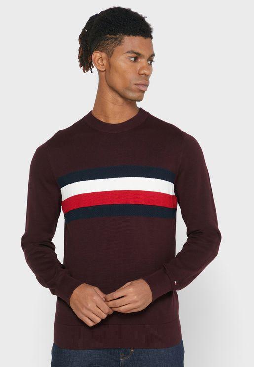 Chest Stripe Sweatshirt
