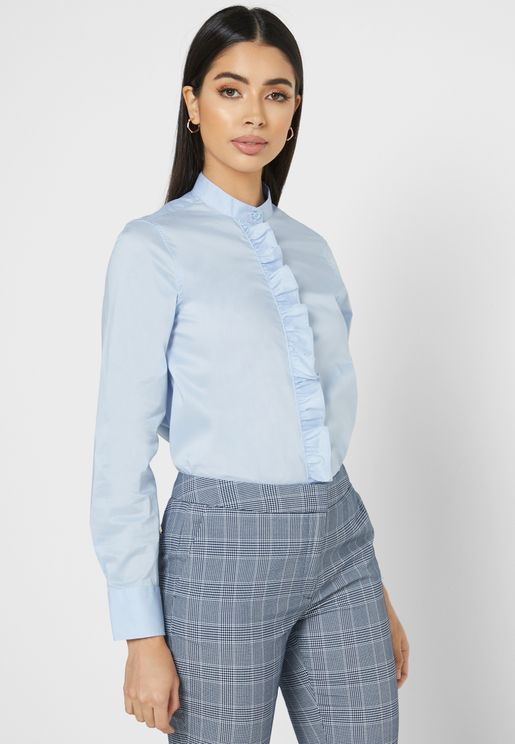 Ruffle Trim Shirt