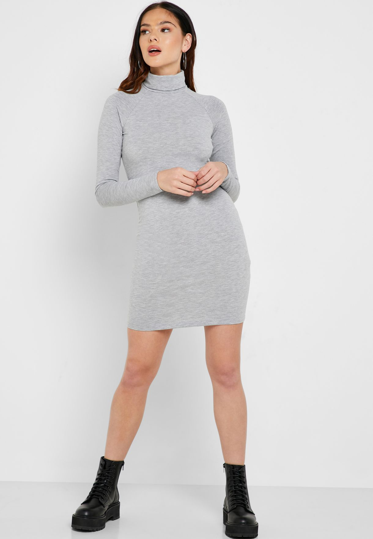 Roll Neck Bodycon Dress