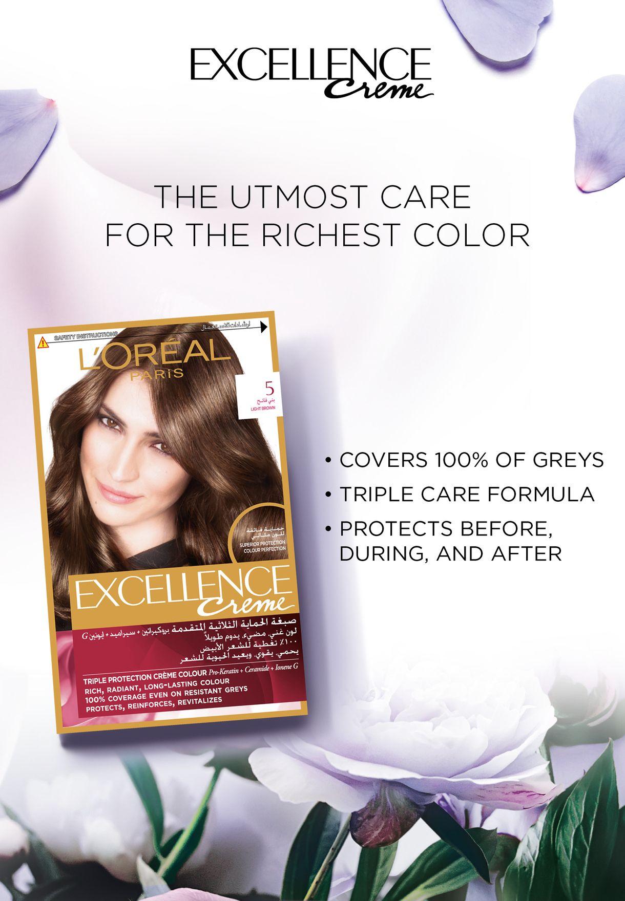 Excellence Creme  Permanent Hair Color Light Brown