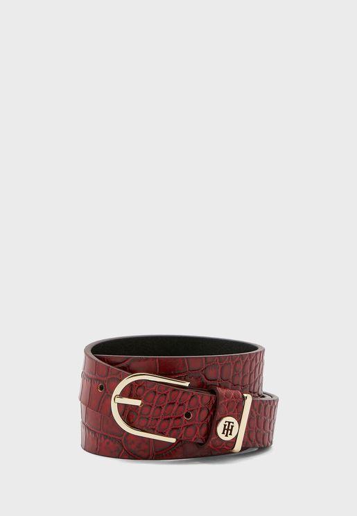 Classic Croco Detail Belt