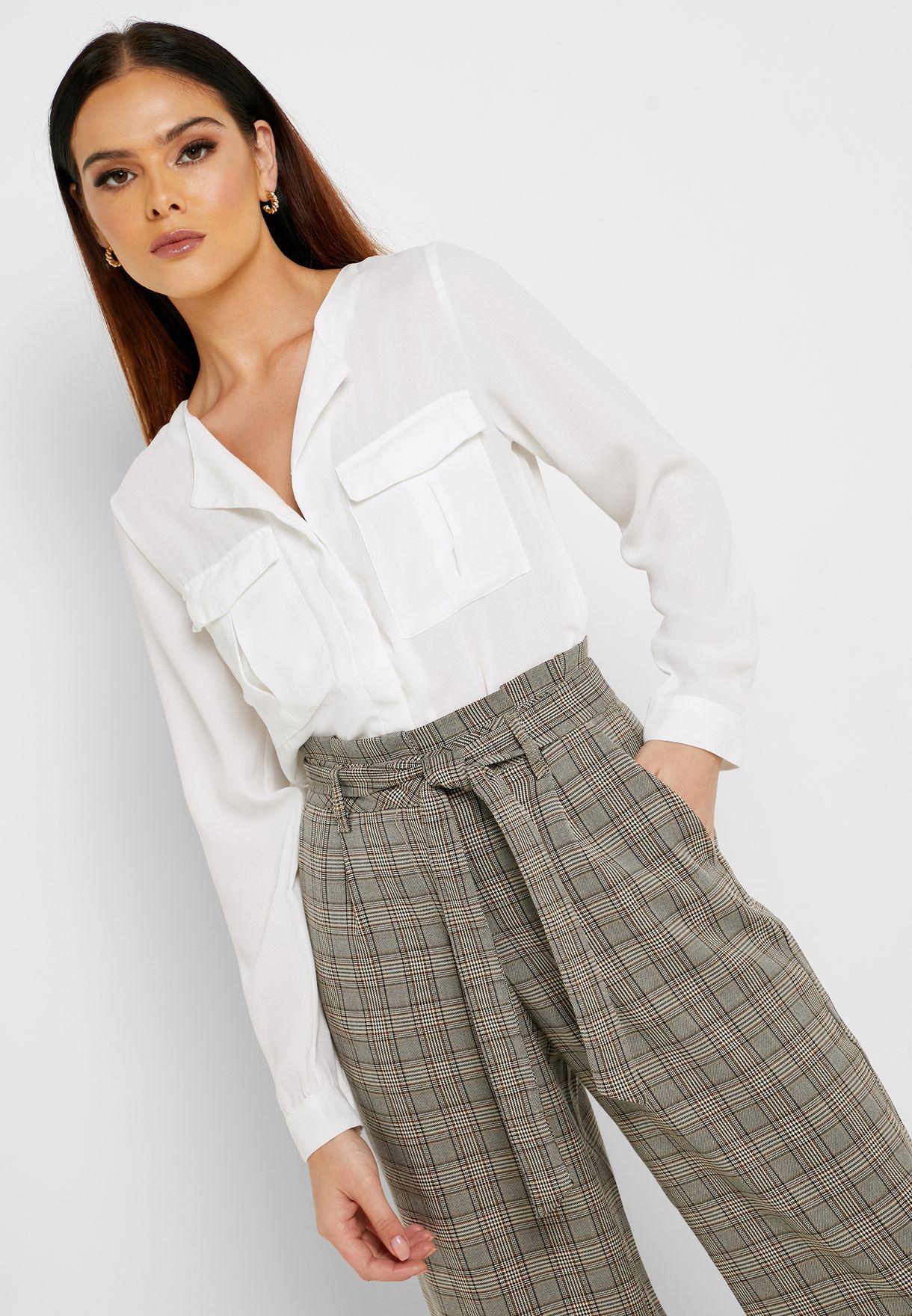 High Low Long Sleeve Shirt