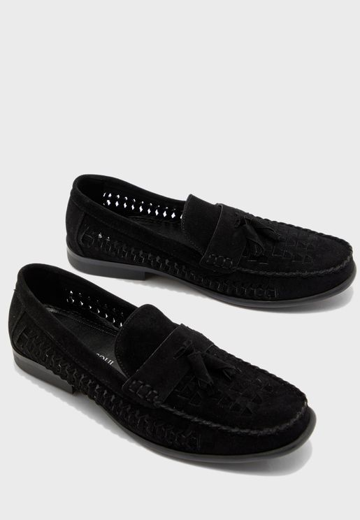 Faux Suede Woven Loafer