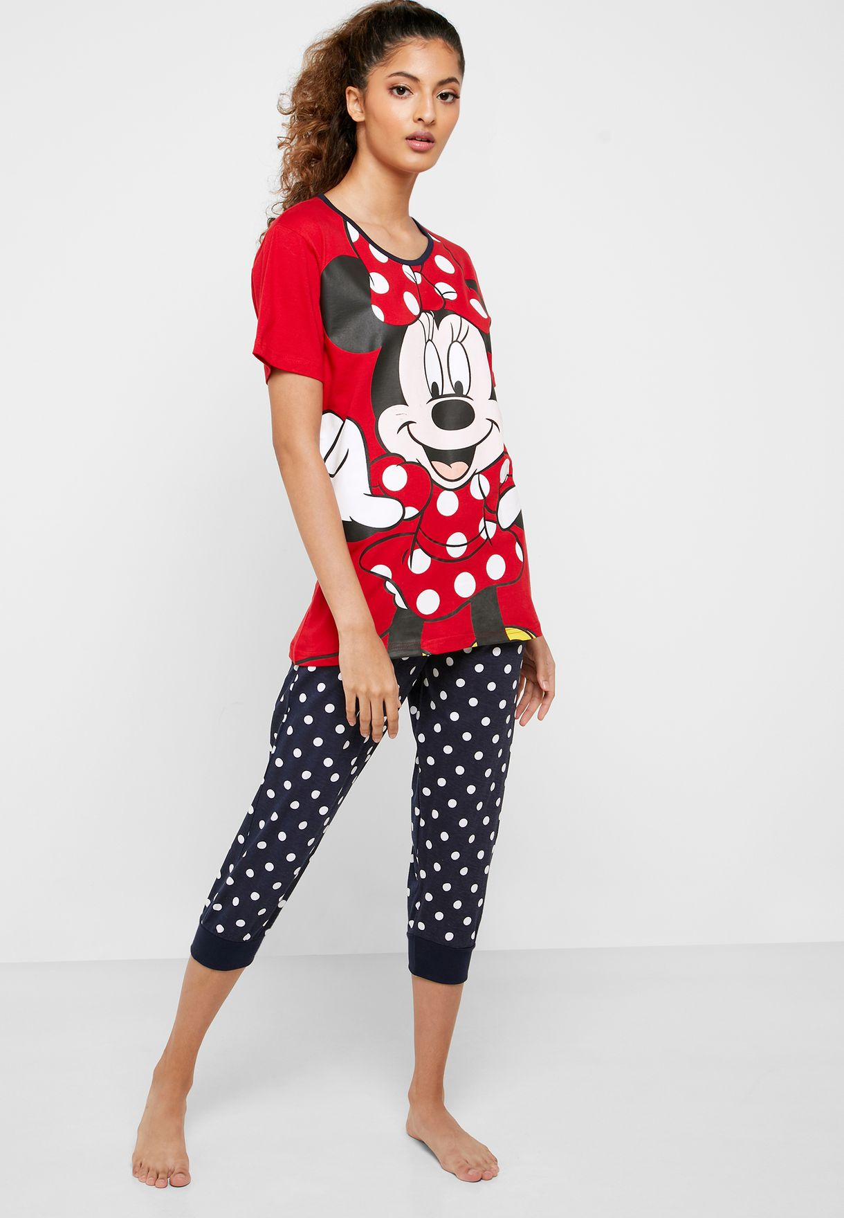 Minnie Graphic T-Shirt & Printed Pyjama