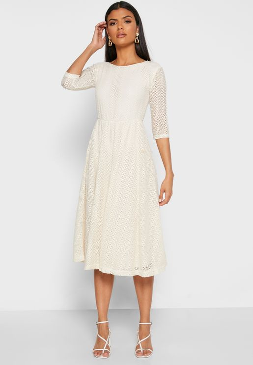 Woven Midi Dress