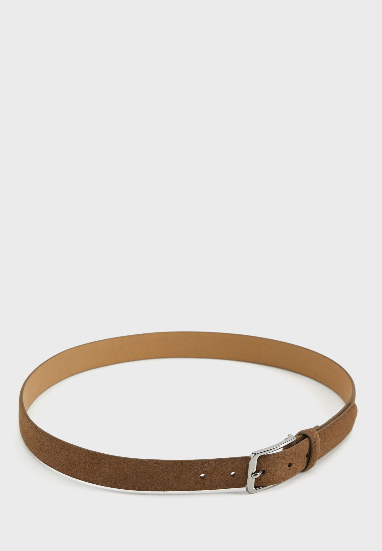 Suede Allocated Hole Belt