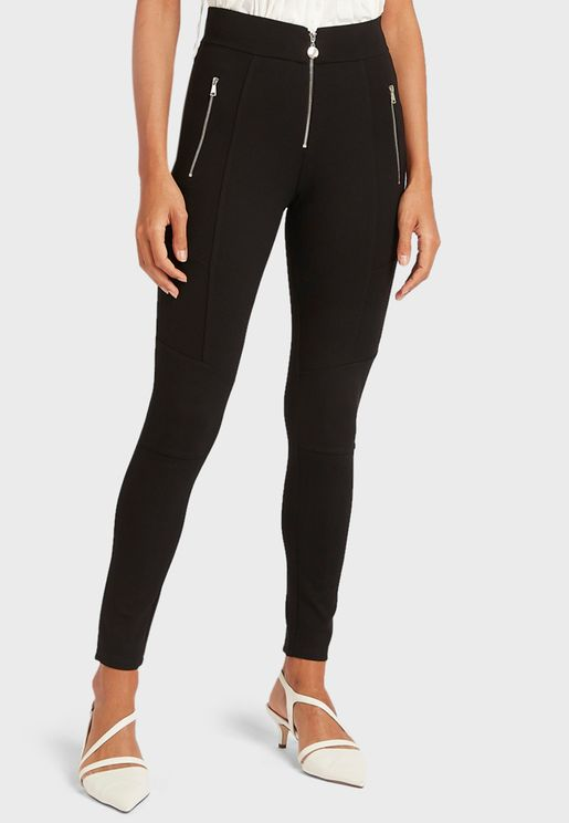 Zip Detail Leggings