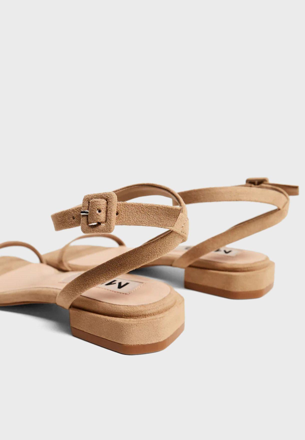 Africa Low Heel Sandal
