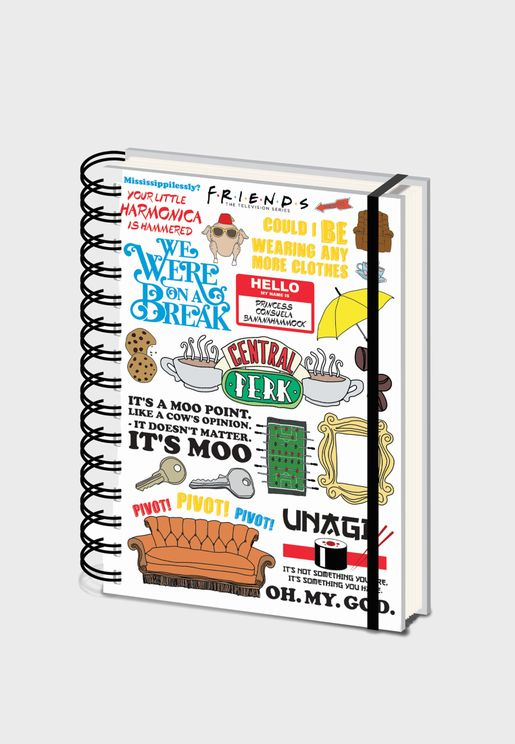 Friends The One With  The Quotes Notebook