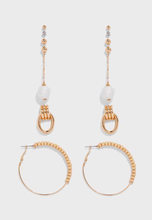 Mylaa Pierced Earrings Set