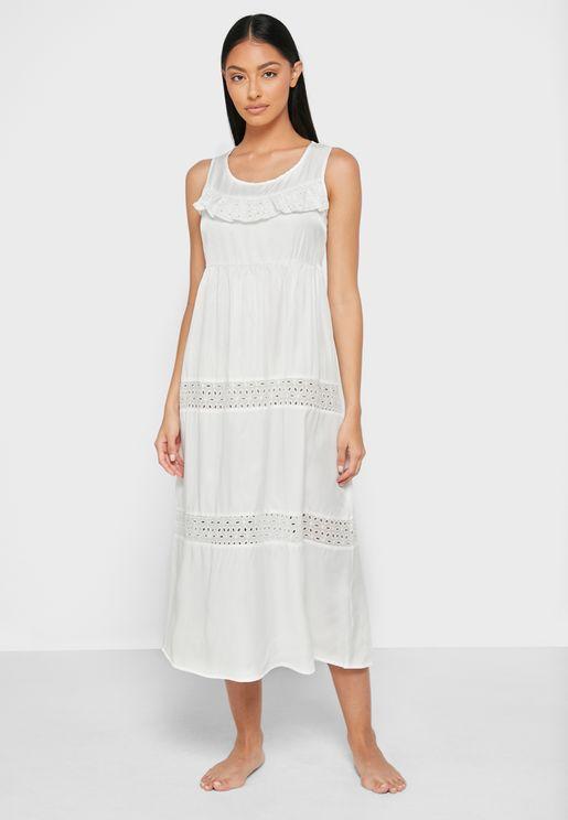 Lace Insert Night Dress