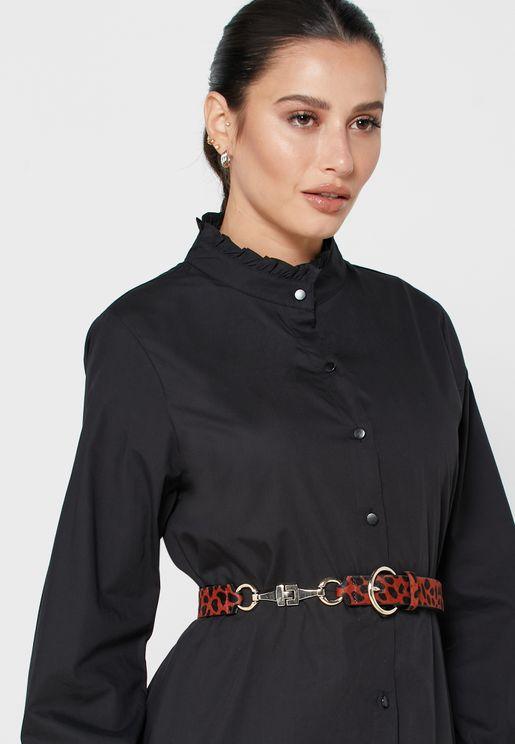 حزام جلد اصلي مطبع