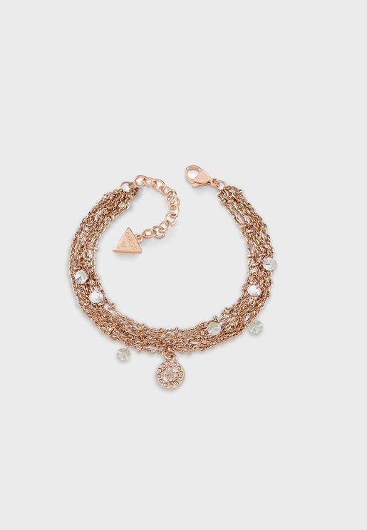 Crystal Clear Multichain Bracelet