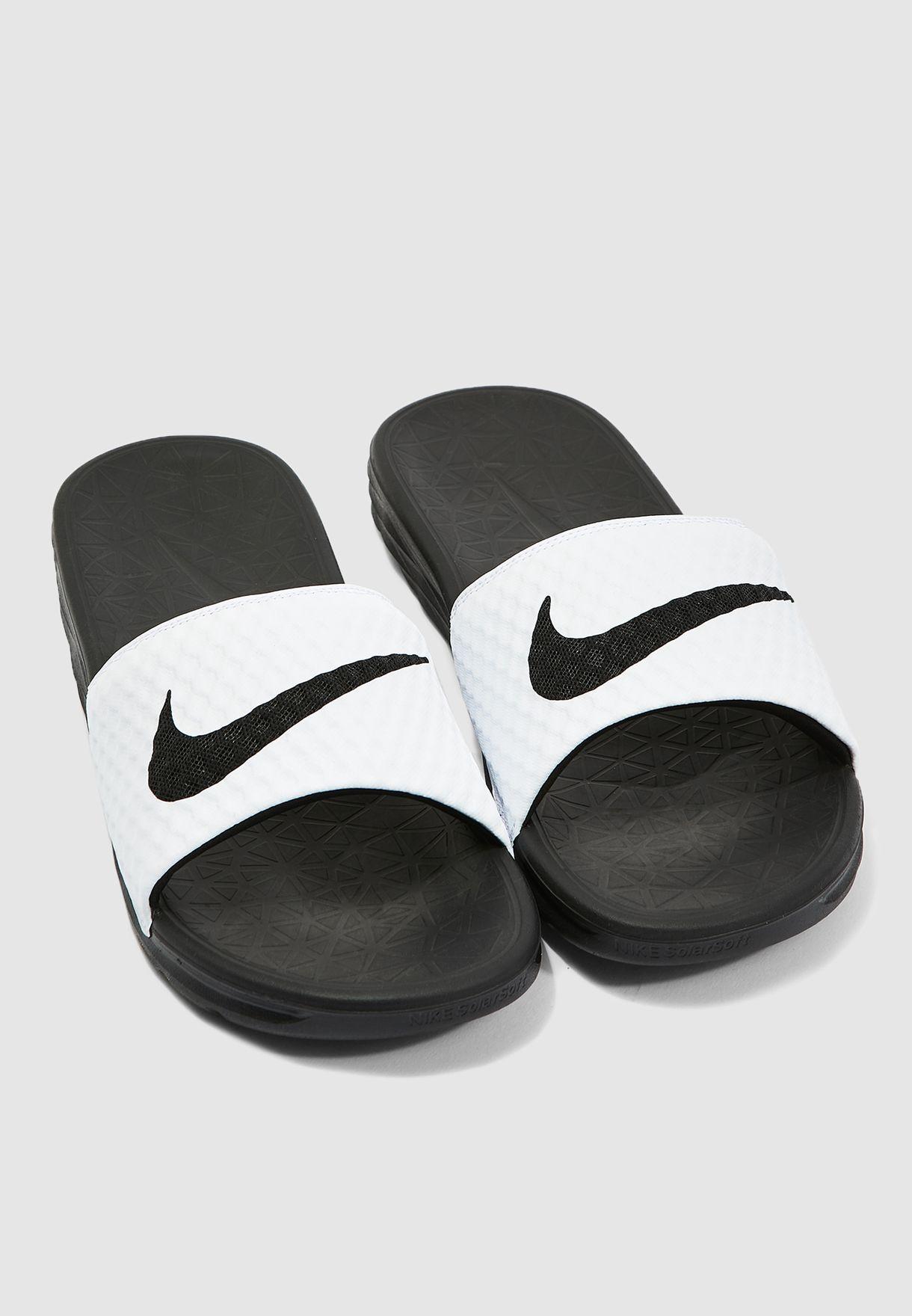 ec593a0a00c4 Shop Nike white Benassi Solarsoft 705474-100 for Men in UAE ...