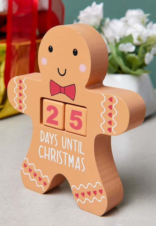 Gingerbread Man Countdown Blocks