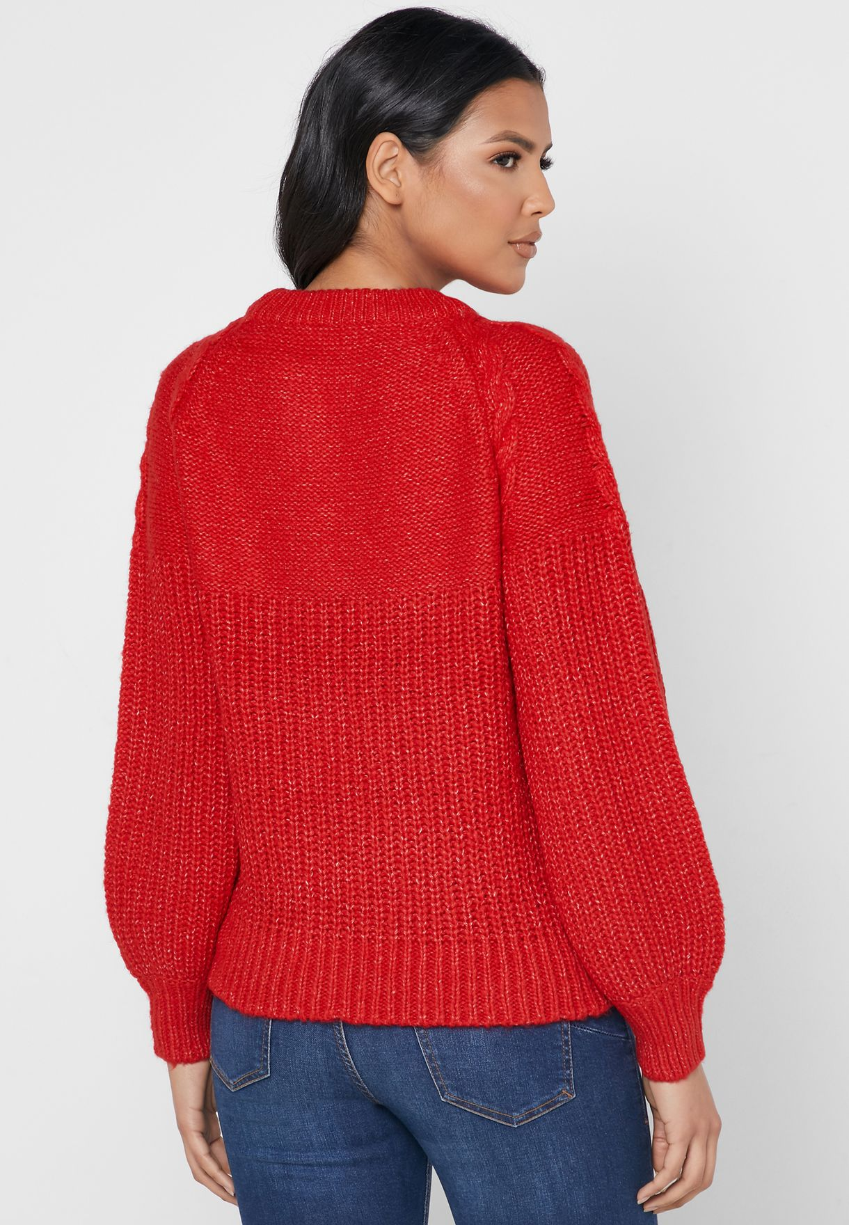 Cable Knit Ribbed Sweater