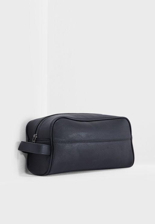 Casual Black Toiletry Bag