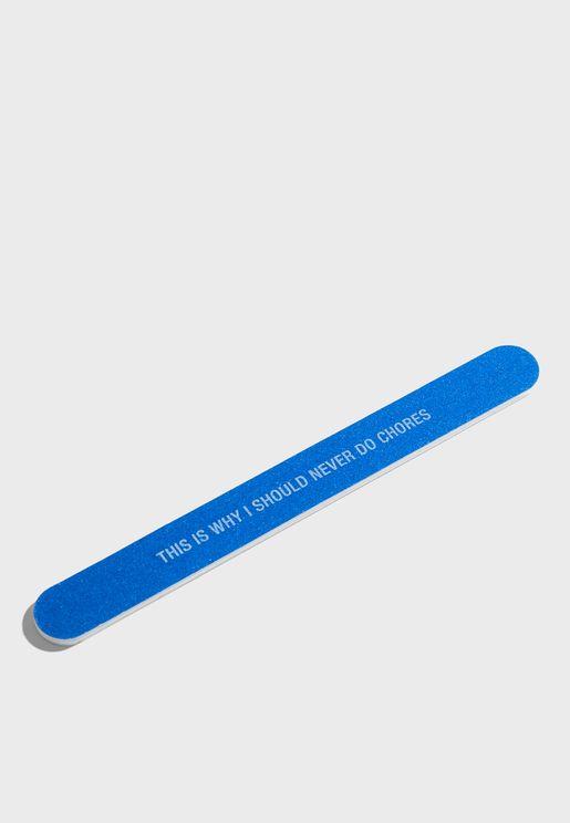 Slogan Nail File