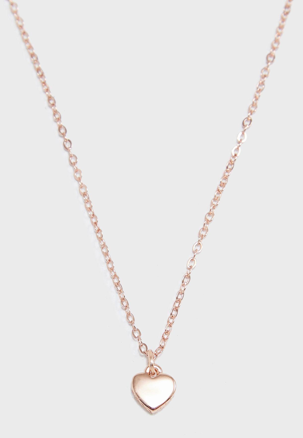 7b75ff8ebcc1 Shop Ted baker rosegold Hara Tiny Heart Pendant Necklace TBJ1145-24 ...