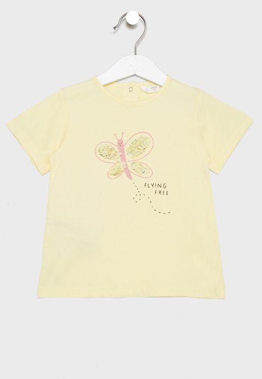 Infant Embossed Print T-Shirt