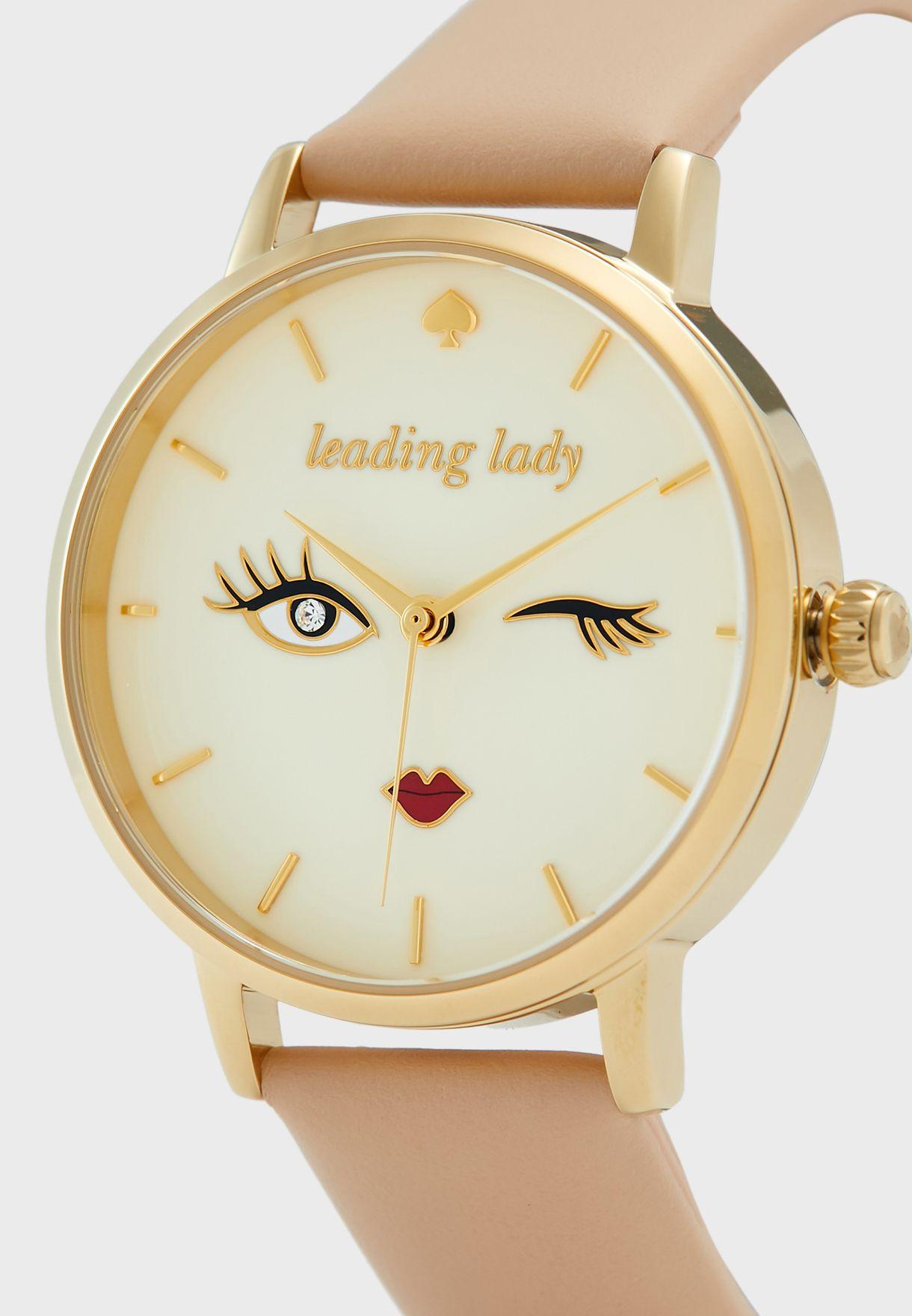 ساعة جلد اصلي