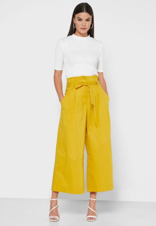 Paperbag Wide Leg Pants