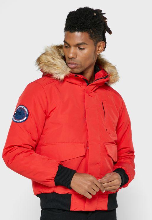 Everest Hooded Bomber Jacket
