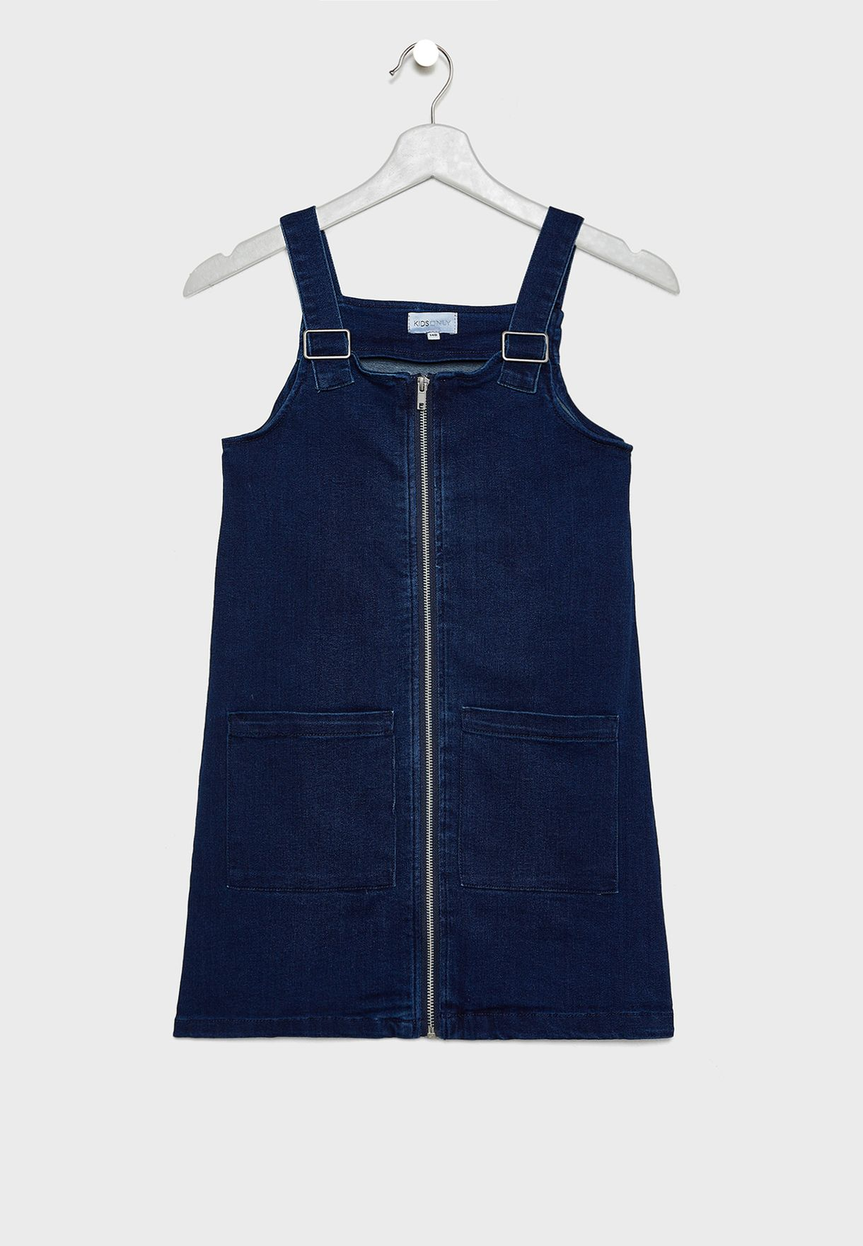Kids Denim Zipper Dress
