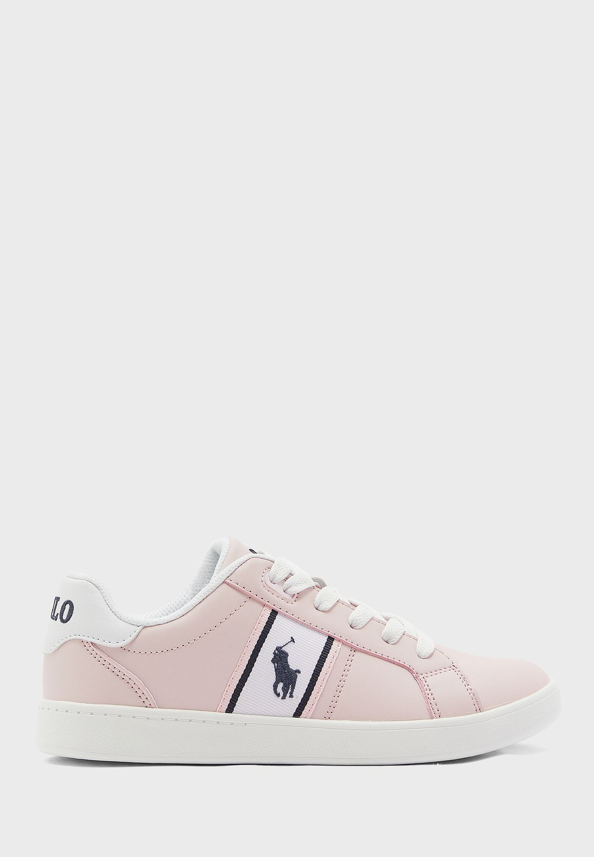 pink polo sneakers