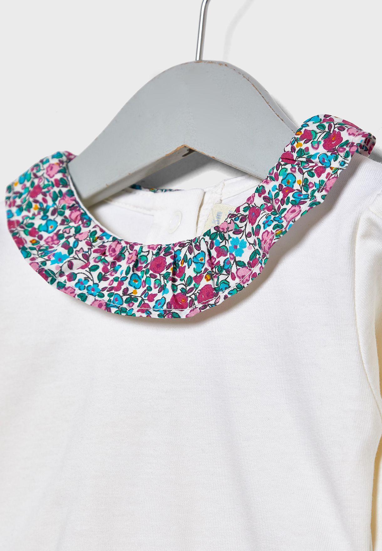 Kids Printed Collar Bodysuit