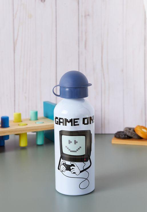 Game On Aluminium Water Bottle