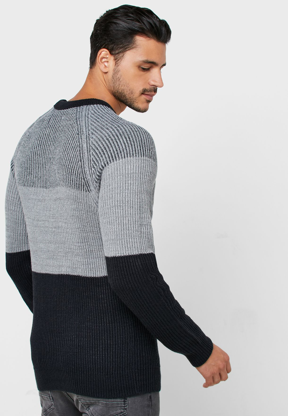 Frankie Color Block Knitted Sweater