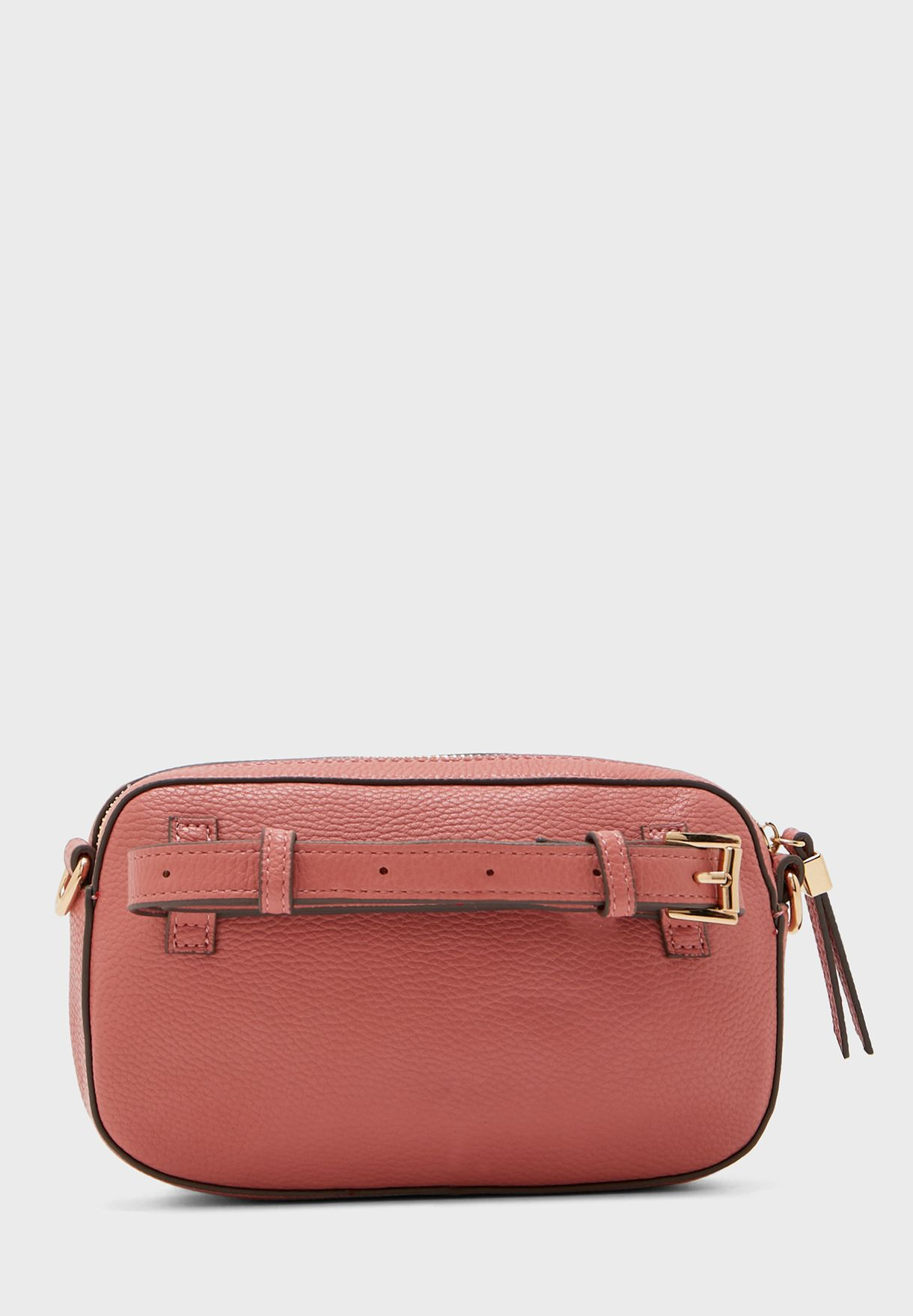 Zip Through Belted Crossbody